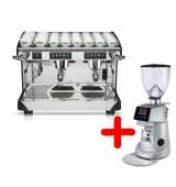 Kафе машина Rancilio Classe 7 + Fiorenzato F64 употребявани